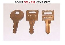 Ronis keys cut to code SM001 - SM400 filing cabinet/ desk drawer /pedestal lock
