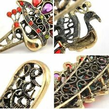 Peacock Hairpin Fashion Hair Clip Retro Rhinestones Crystal Duckbill Barrette
