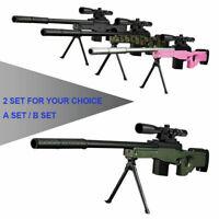 AWM Water Bullet Toy Gun Sniper Rifle Manual Simulation Musket+Magnifier for Kid