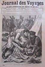 Zeitung der Voyages 578 von 1888 Sklaverei Négriers Afrika Sudan / Kanal Schweiß