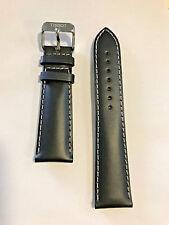 Original Tissot V8 Black Leather 22mm Strap Band for T361316A T039417A T106417A