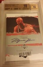 05-06 UPPER DECK SLAM SIGNATURE SLAMS AUTOGRAPH MICHAEL JORDAN SP BGS 10 AUTO 10