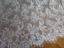 Lace Fabric Off White Retro Pretty Chantilly Floral Wedding Bridal 150CM wide