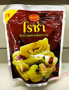 ROZA Sweet Pickled Mustard Green Pack Vegetables Foodstuff Thai Style 145g