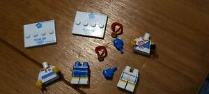 LEGO team GB minifigure spares ..  bases bodies legs boxing gloves medals