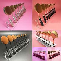 10 PCS Brush Storange Place 10 Lattices Cosmetic Organizer Clear Acrylic Shelf