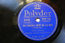 EDITH PIAF Polydor 590155 FRENCH 78 D L'AUTRE COTÉ DE LA RUE / Y A PAS D'PRINTEM