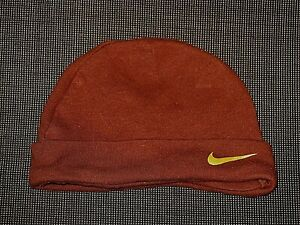 NIKE SWISH BROWN BEANIE 100% COTTON HAT BOY'S GIRL'S BABY INFANT 0-3 mos.