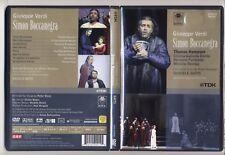 Dvd Giuseppe Verdi SIMON BOCCANEGRA Thomas Hampson Daniele Gatti Furlanetto