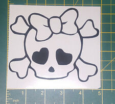 "monster high style skull 5""  wide plus custom sizes also available in white"