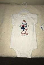 baby girl fourth of july bodysuit size 0/3 months or 3/6 month