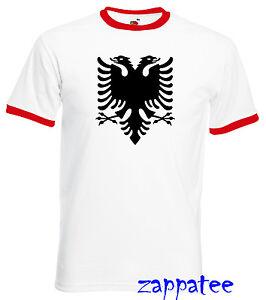 Albania T Shirt - FOTL Ringer Albanian flag Tee