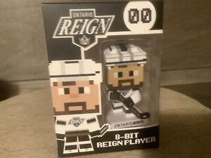 Ontario Reign 8-Bit Reign Plastic Figure LA Kings Hockey Player 2016 NEW