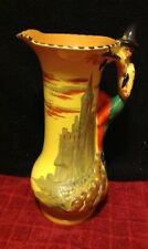 Ultra Rare Vintage B&L Burleigh Ware Pied Piper Hamelin Figural Pitcher Jug Rats