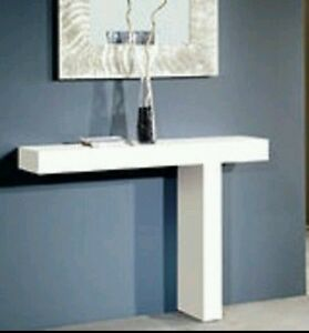 MOBILE THESHOLD CONSOLE TABLE modern white thickness 6 cm