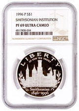 1996-P NGC PF69 Smithsonian Proof Commemorative one Dollar Coin