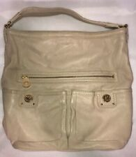 Marc By Marc Jacobs Totally Turnlock Faridah  $448 Leather Purse MBMJ Cream EUC