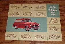 1956 Chevrolet Task Force Panel Trucks Sales Brochure 56 Chevy