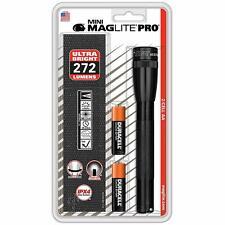 Maglite mini pro LED linterna, 272 lúmenes, negro Black sp2p01h con holster