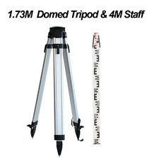 1.73M Domed Aluminum Tripod + 4M Laser Level Staff Kit Dumpy Level Rotary Level