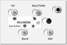 Bartolini HR-4.7AP 3-Band Active Bass EQ w/Vol, Blend, Bass/Treble, 3 Freq Mid