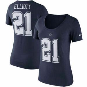 New Dallas Cowboys Nike navy women's medium M Ezekiel Elliott jersey style shirt