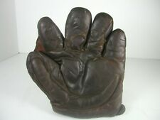 "VINTAGE EARLY ""AJ REACH"" CRESCENT PADDED SPLIT FINGER FIELDERS GLOVE"