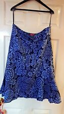 Women's Monsoon Purple/Black Linen Skirt, Size 14
