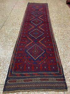 New Afghan Hand Woven Mashwani Wool Kilim Runner Rug 8 x 2 Ft (1751 HMN)
