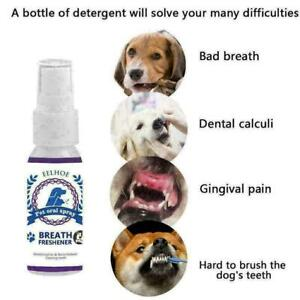 Pet Breath Freshener Spray Dog Cat Mouthwash Care Healthy  Mouth Cleaning 6 I1V9