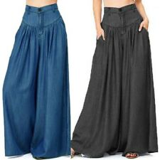 ZANZEA 8-24 Women Plus Size High Waist Pants Culottes Oversize Wide Leg Trousers