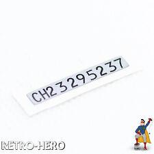 GameBoy Color Serial Number Sticker Seriennummer Label ID EU Nummer GBC Game Boy