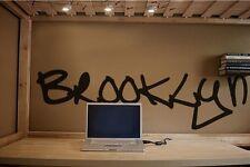 "Vinyl Wall Decal Sticker Brooklyn NYC Large 10"" x 3"""