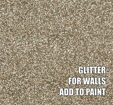 "100g FINE CHAMPAGNE GOLD GLITTER FOR WALLS ADD TO PAINT ADDITIVE .008"" .2mm"