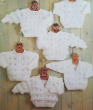 Baby cardigan and jumper including premature size in 4 ply knitting pattern 0223