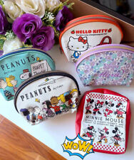 Japanese PU Leather Cartoon Mickey Kitty Make Up Cosmetic Travel Novelty Bag