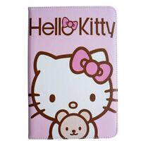 PU Cute Leather Kawaii Baby Pink Hello Kitty Cover For Apple iPad 2 3 4 Air Mini
