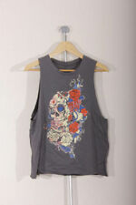 Crew Neck Floral Petite Sleeveless T-Shirts for Women