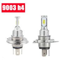 1 Pair 9003 H4 LED Headlights 2 Bulbs Kit High & Low Beam 80W 4000LM 6000K White