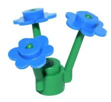 ☀NEW LEGO RARE BLUE Flower Bouquet Minifigure Minifig Flowers Plant Stem Garden