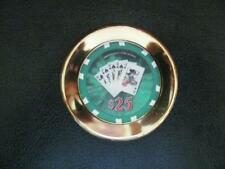 POKER CHIP HOLDER-SOLID BRASS CARD GUARD