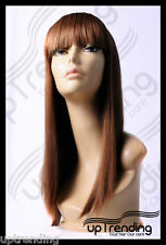 HIGH HEAT RESISTANT TRENDY FRINGE LADY GAGA STYLE WIG LIGHT ASH BROWN 12# T-041