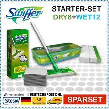 Swiffer Starter Set Bodenwischer + 8 Tücher + 12 feuchte Bodentücher WET