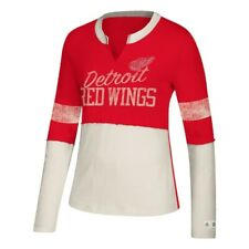 Women's Adidas Detroit Red Wings Finished Tee Vintage Look NWT NHL