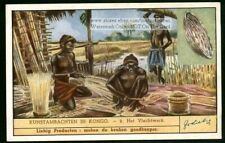 Africa Congo Art Basket Weaving La Vannerie 75+ Y/O Trade Ad  Card