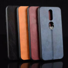 For Nokia 4.2 Retro Stitching Leather Fabric Coated Rubber Hard case back cover