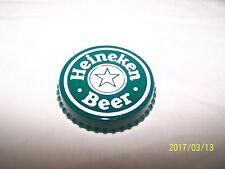 VINTAGE NOS HEINEKEN BEER PLASTIC STICK-ON BOTTLE CAP ADVERTISING BRAND NEW !!!