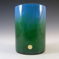 Ekenas Blue + Green Glass Vase Signed John-Orwar Lake
