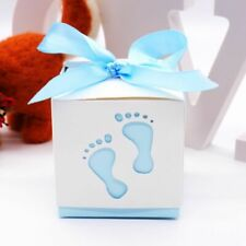 Laser Cut-out Baby Foot Gift Box Birthday Candy Favor Boxes Baby Shower Supplies