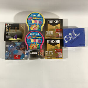 New Sealed TDK, Maxell, Allsop CD's And Maxell Slims Bundle